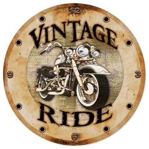 Vintage Ride Vintage Clock modern