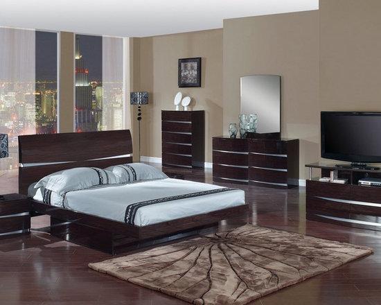 Bedrooms Furniture - Global Furniture Wenge Wood Master Bedroom Set