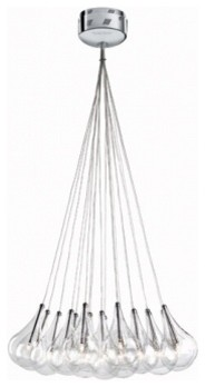 Drop 5100-196 light cluster chandelier - 19 lights modern-chandeliers