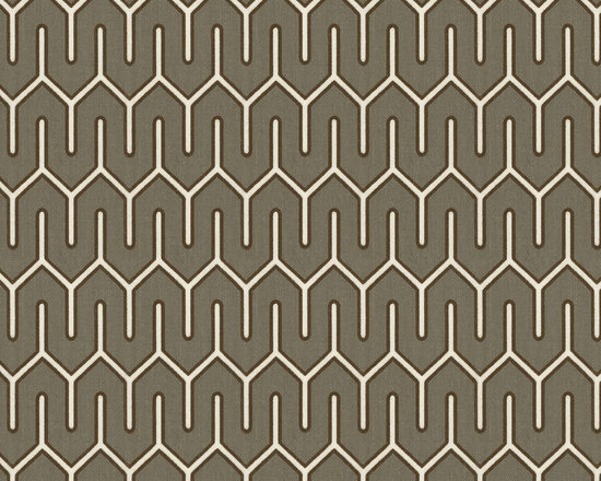 Maze Work : Brindle - Taupe geometric indoor outdoor fabric.