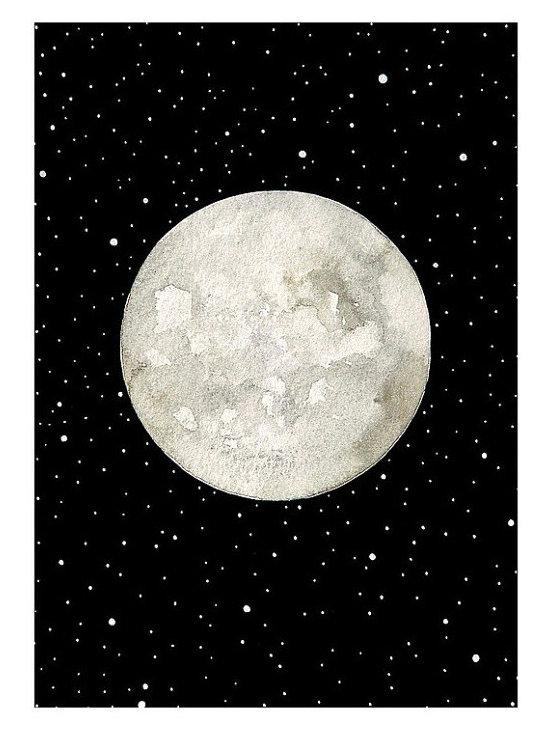 'Luna 6' Original Watercolor Painting by Natasha Newton Art -