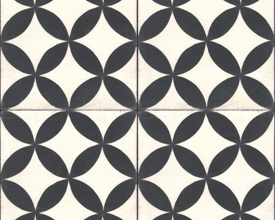 In Stock Cement Tile - Circulos White Cement Tile from Cement Tile Shop