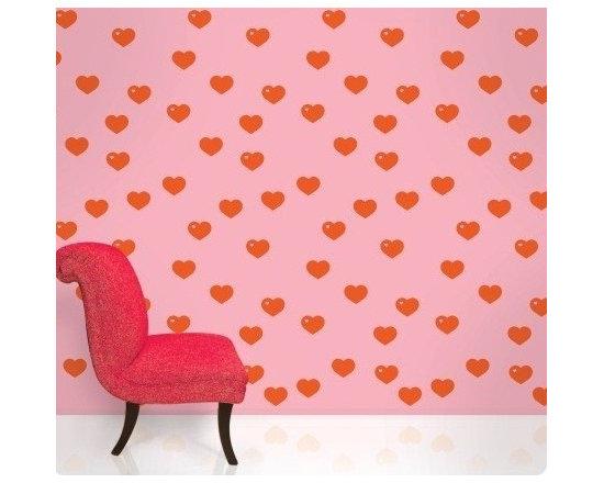 Wallcandy Arts Hearts Red/Pink - Wallcandy Arts Hearts Red/Pink
