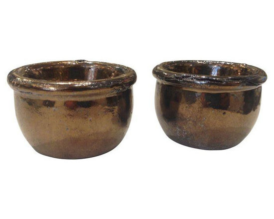 Bronze Votive Holders - Set of 6 - $36 Est. Retail - $36 on Chairish.com -