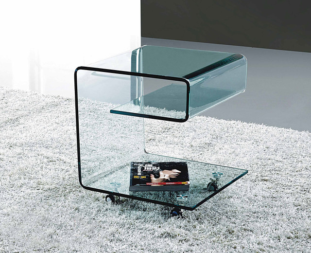 MODERN GLASS SIDE TABLE GINOSA