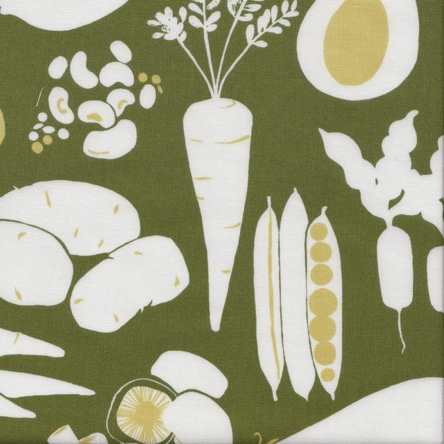 Natura Farmer's Market Fabric, Green/Olive eclectic-upholstery-fabric