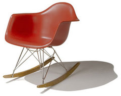Herman Miller Eames Molded Plastic Rocker Chair modern rocking chairs