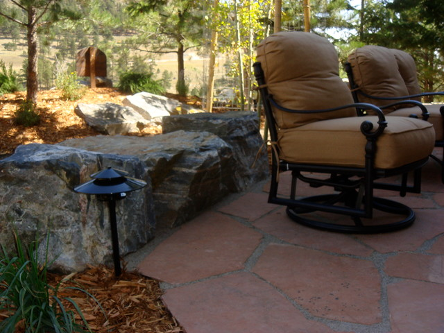 Patios/Rock-work traditional-outdoor-chaise-lounges