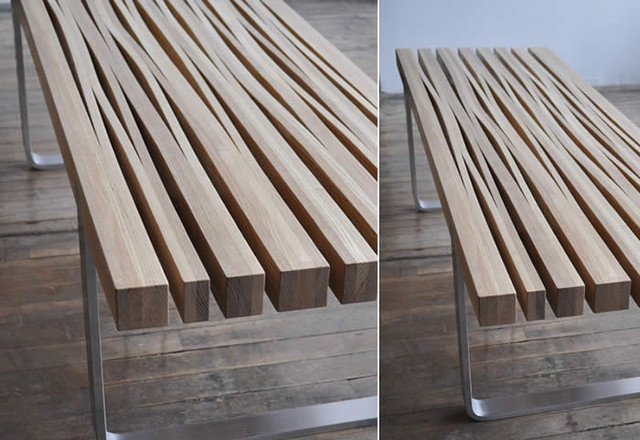 Wood contemporary-indoor-benches