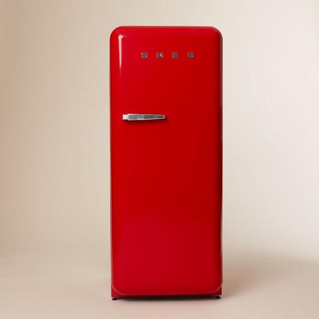 Smeg Refrigerator, Red - Midcentury - Refrigerators - by West Elm