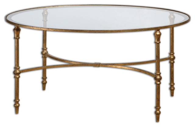 Vitya Glass Coffee Table Traditional Coffee Tables By Fratantoni Lifestyles