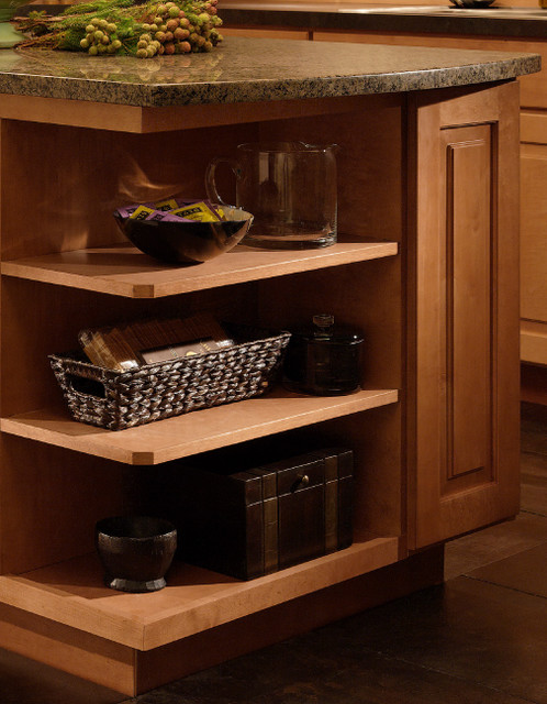 Base & Wall End Shelves | CliqStudios.com traditional-kitchen-cabinets