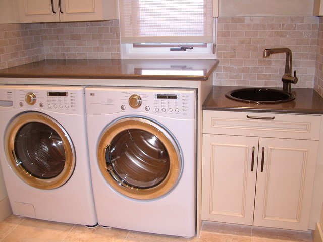 West Valley small laundry reno traditional laundry room