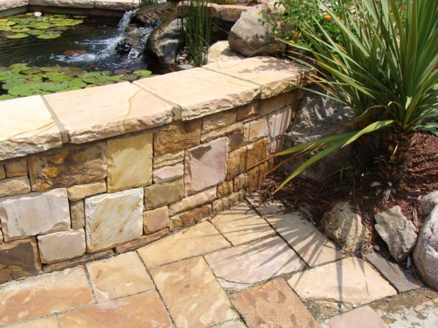 Crab Orchard Flagstone Traditional Patio Atlanta