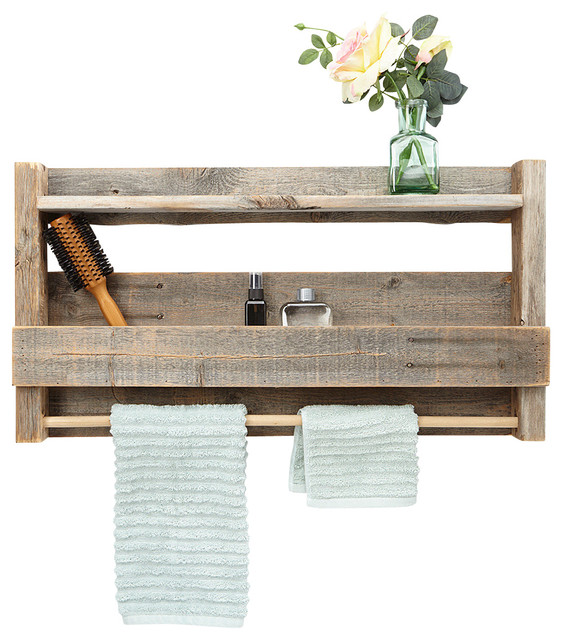 Reclaimed Wood Bathroom Shelf Rustic Bathroom Cabinets And Shelves By