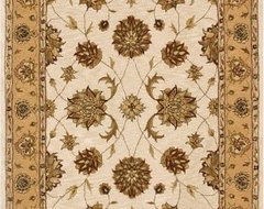 Dynamic Rugs Jewel 70230 Pom Persian Rug - Ivory/Gold eclectic-rugs