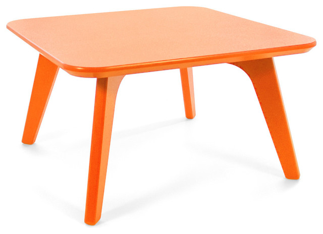 Satellite end square 26 table sunset orange for Orange outdoor side table