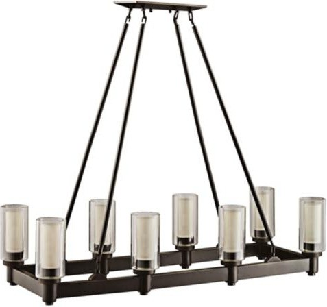 Circolo Collection Olde Bronze Rectangle Chandelier | LampsPlus.com traditional chandeliers