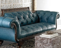 Old Hickory Tannery Lariette Duncan Sofa traditional sofas
