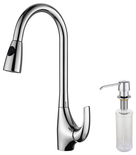 Kraus Plumbing Fixtures : ... Out Kitchen Faucet and Soap Dispenser Chrome modern-kitchen-faucets