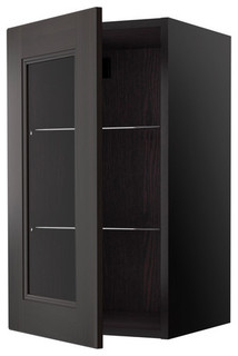 RAMSJÖ Wall cabinet with glass door - Scandinavian - Kitchen Cabinetry - by IKEA