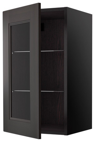 RAMSJÖ Wall cabinet with glass door modern-kitchen-cabinets