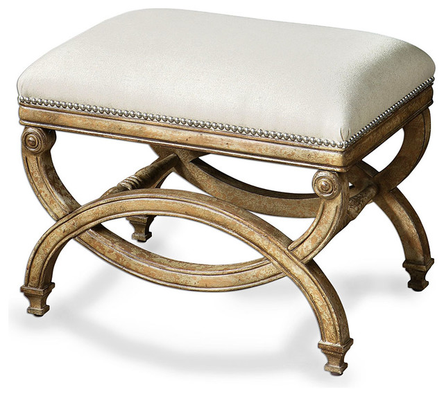 karline bench small transitional upholstered benches