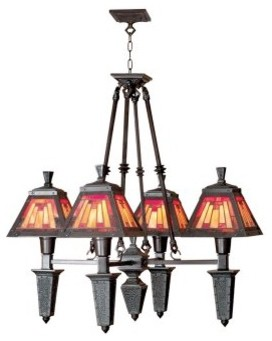Dale Tiffany 4-Light Sunset Mission Fixture - 25-watt in. Mica Bronze modern-ceiling-lighting