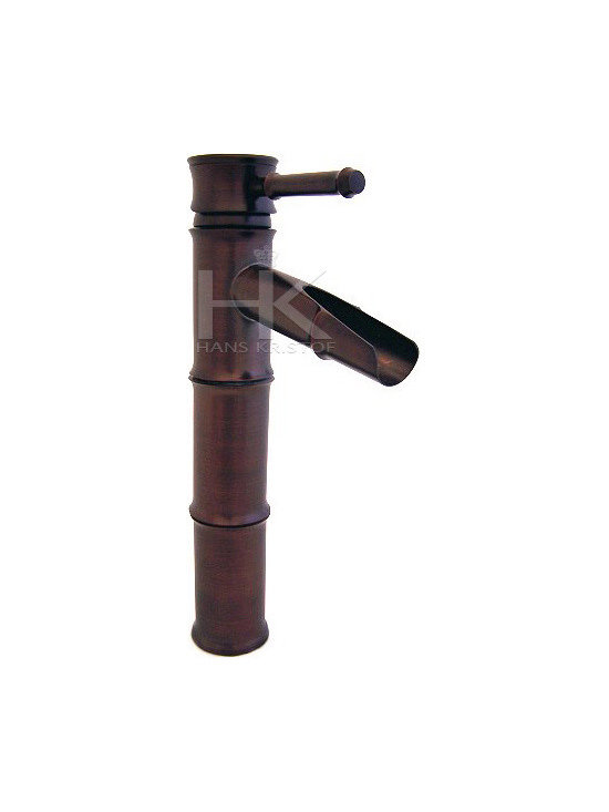 Hans Kristof Single Handle Oil Rubbed Bronze Bamboo Style Vessel Sink Faucet -