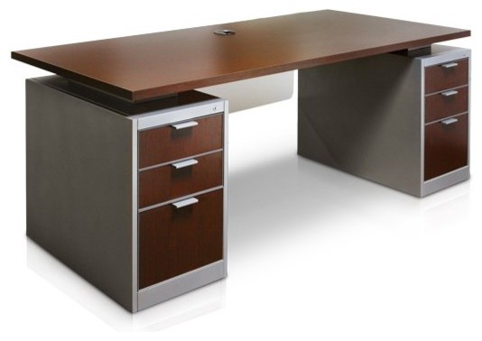 Office Desk - Traditional - Desks & Writing Bureaus - by Thrive Home