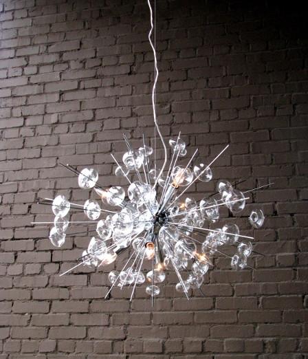 Bubble Chrome Ceiling Fixture contemporary-chandeliers