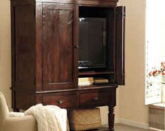 Mason Media Armoire, Rustic Mahogany Finish traditional-storage-cabinets