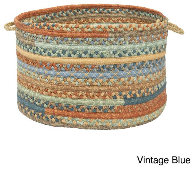 Alexandra Braided Storage Basket Contemporary Baskets By
