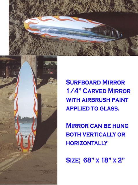 Surfboard Mirror contemporary-kids-decor