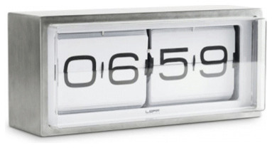 Leff 24-hour Flip Clock modern-clocks