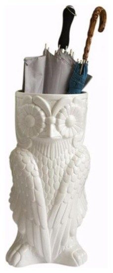Owl Umbrella Stand eclectic-coat-stands-and-umbrella-stands