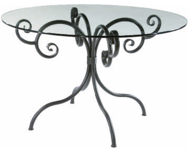 Waterbury Breakfast Table, Iron contemporary-dining-tables