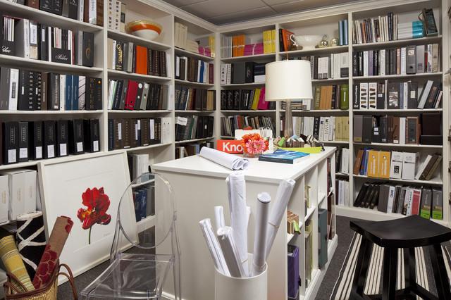 Martha O'Hara Interiors Design Library contemporary