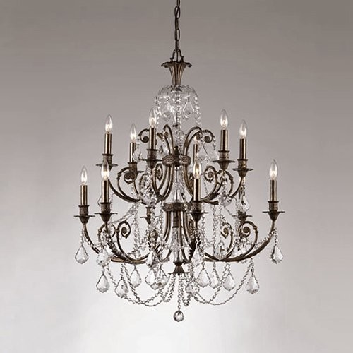 Crystorama Regis Chandelier - 32W in. English Bronze & Clear traditional-chandeliers