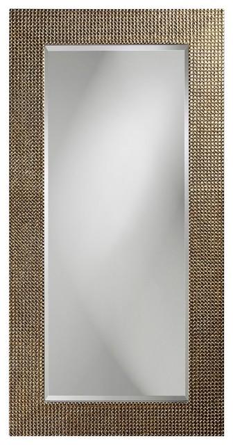 Lancelot Tall Silver Leaf Mirror contemporary-mirrors