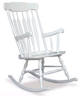 Adult Rocking Chair in White traditional-gliders