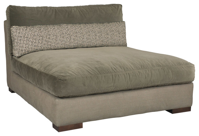 Kinzie armless chaise modern indoor chaise lounge - Designer chaise lounge chairs ...