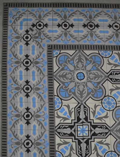 cuban heritage design handmade cement tile transitional