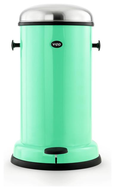 Vipp - Vipp 15 Copenhagen Green Pedal Bin - Eclectic ...