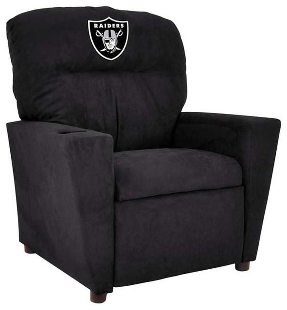 Dfw Furniture Pittsburgh: Oakland Raiders NFL Tween Recliner