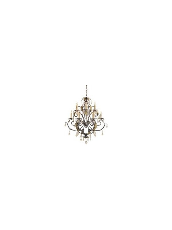 Currey and Company Heirloom Traditional Chandelier - Small - CNC-9571 - Currey and Company Heirloom Traditional Chandelier - Small - CNC-9571