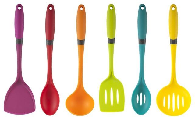 Grip brights 6 piece utensil set lima modern cooking utensils