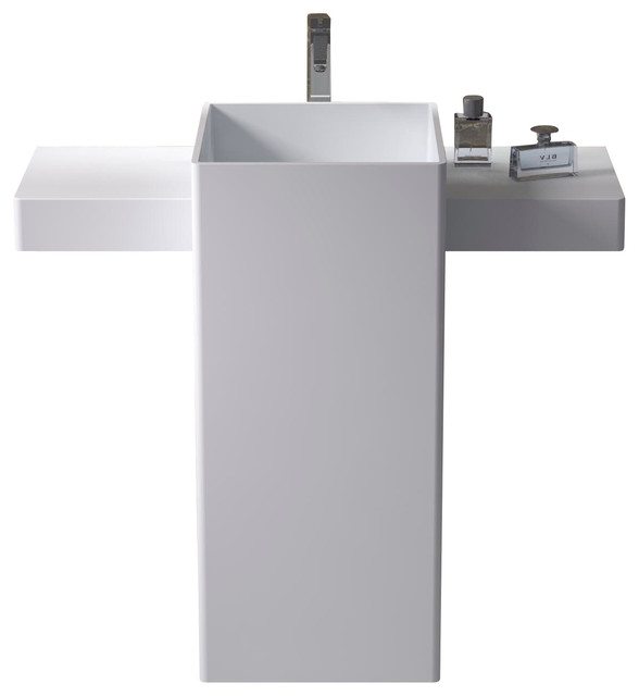 ADM Free Standing Solid Surface Stone Resin Sink, Matte - Modern - Bathroom Sinks - by ADM ...