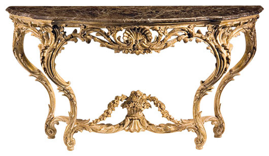 Louis Xv Carved Console Table Traditional Console