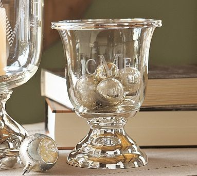 Silver Plated Hurricane Small Traditional Candles And